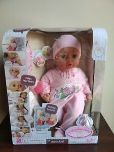 """New Baby Annabell Green Eyes 17"""" 43cm Doll( Ripped Dented ..."""