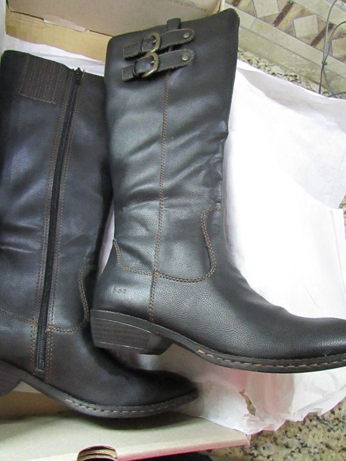 NEW BORN SHARLENE BLACK TALL BOOTS Damenschuhe 6 KNEE HIGH C15009