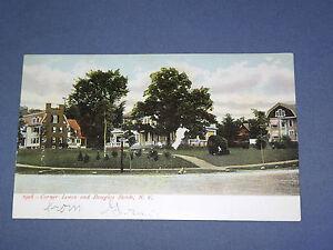 VINTAGE-1908-CORNER-LENOX-amp-DOUGLAS-ROADS-NEW-YORK-POSTCARD