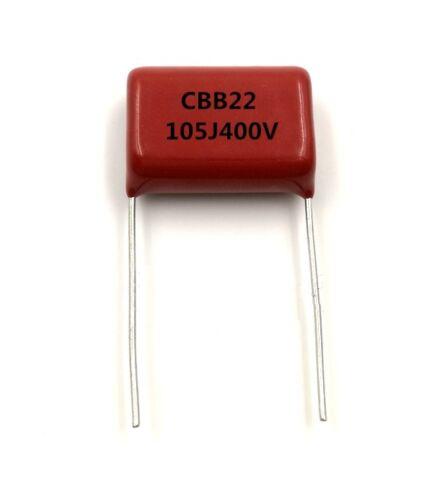 10PCS CBB22 Capacitor 400V 105J 1uF 400V/105J Pitch 20mm 22*14*7MM K8