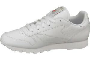 96013fab92f Reebok Classic Leather Women s Shoes Trainers White 2232 Leisure ...