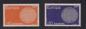 Andorra-Fr-1970-Sc-196-97-Europa-MNH-Scv-22-3-4466
