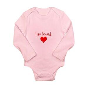 783154506 CafePress I Am Loved Cute Long Sleeve Infant Bodysuit Baby Romper