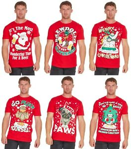 Adults-Christmas-Design-Printed-100-Cotton-T-Shirt-Regular-and-Plus-Sizes