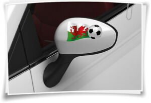 Prudent 2x Pays De Galles Drapeau Des Autocollants Football Autocollant Sport Em Wm Miroir Bouchons Car-afficher Le Titre D'origine