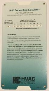 Image Is Loading R 22 R22 Refrigerant Charging Chart Gauge Set