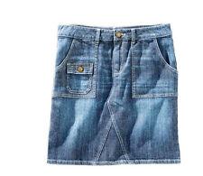 Modischer Jeansrock mit Ziernähten  Gr.40