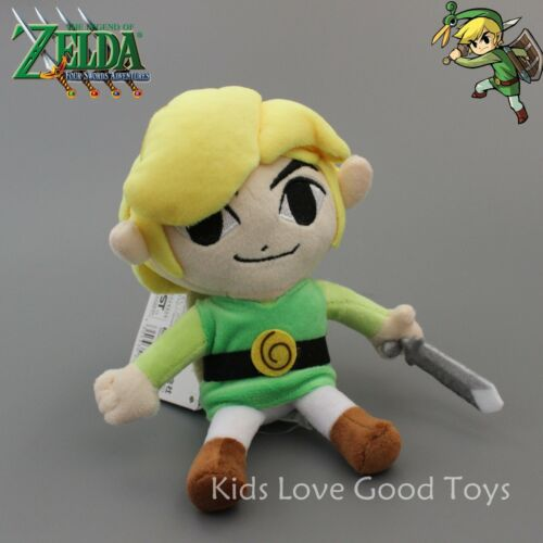 "Phantom Hourglass Link The Legend of Zelda Plush Doll Toy Figure 7/"" Kids Gift"