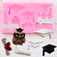 3D Graduate Silicone Molds Hat Owl Cake Decorating Fondant Mold Diy Cupcake Baki