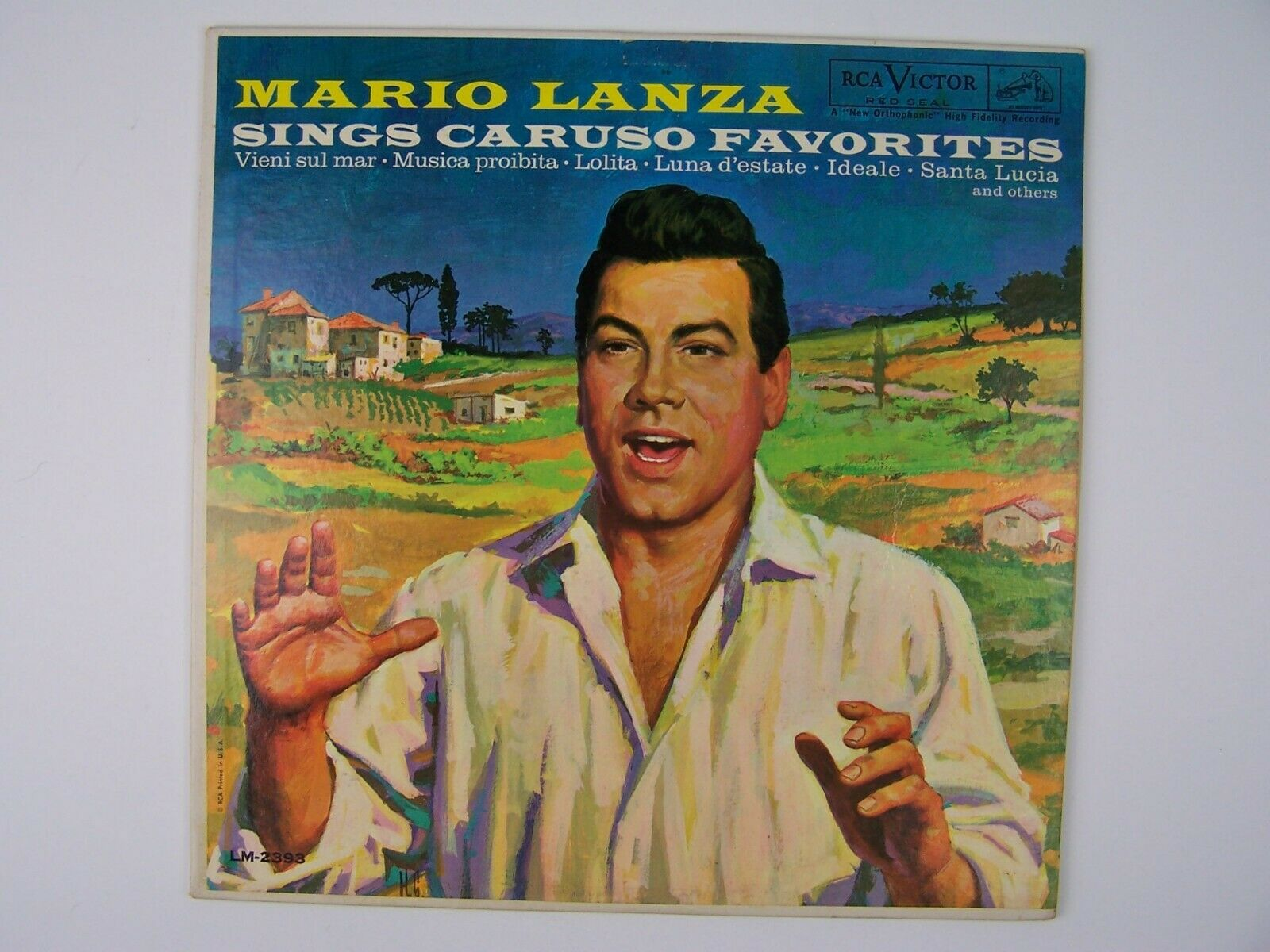 Mario Lanza - Sings Caruso Favorites Vinyl LP Record Al