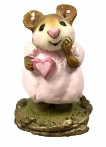 Wee Forest Folk Girl Sweetheart Pink Dress M-80 Retired Annette Petersen W/BOX