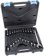 Ratschenschlüssel mit Gelenk 12-tlg Ratschen Ringschlüssel Ringratschenschlüssel