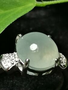 Highly-Translucent-Icy-Ice-Light-Green-Burmese-Jadeite-Jade-Ring