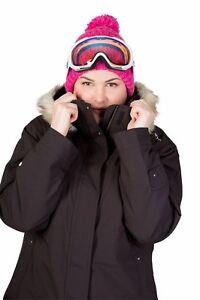 38ebbf808d7 Womens Plus Size Snow Ski Jacket - Cartel Brooklyn Black Sizes 16 ...