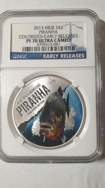 2015 Niue $2 Piranha 1oz Silver Proof  Colorized Coin NGC PF70 Ultra Cameo ER