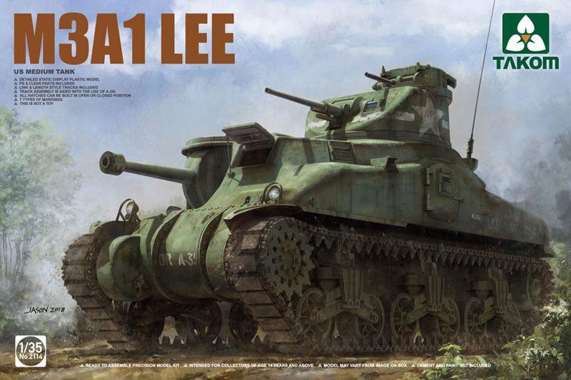 Takom 1 35 M3a1 Lee USA USA USA Carro Armato Medio c1237d
