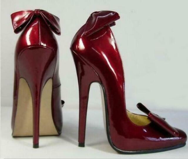 ff525393b7c Women's Extreme Super High Heels Pumps Bowknot Pointed Toe Stiletto Club  Shoes