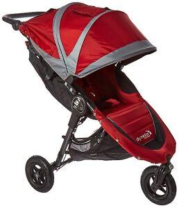 Baby Jogger City Mini GT Stroller- Crimson/Gray - New!! Free Ship! Open Box!!