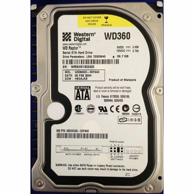Western Digital 36GB, 10K RPM, SATA - WD360GD-00FNA0