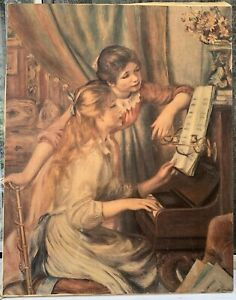 by Pierre-Auguste Renoir Giclee Repro on Canvas Young girls at the piano 1