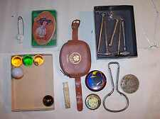 ANTIQUE LOT COCA COLA SEWING KIT PICTURRE MARBLES CIGARETTE HOLDER DAIRY OPENER