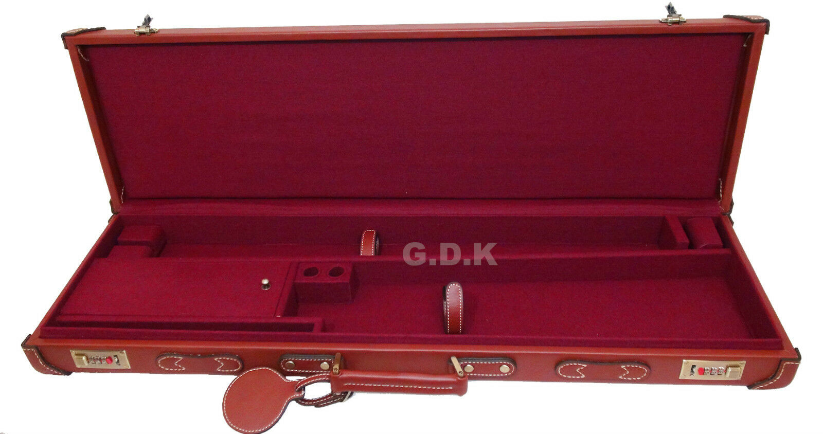 Gdk Guardian, marrón de cuero Shotgun-maleta, 66-81.3cm rifle de ejecución escopeta
