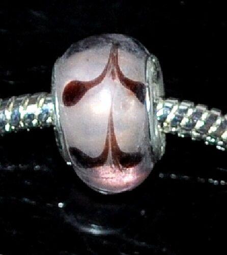 Hecho A Mano De Cristal De Murano cuentas encanto Fit europeo Estilo Serpiente Cadenas