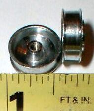"Chrome 5/8"" X 7/32"" Thin Front Wheels 1 pr Wheel  Vintage Original 1960 1/24 NOS"