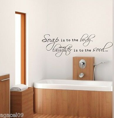 TOILET BATHROOM  WALL QUOTE VINYL ART DECOR STICKER DECAL STENCIL MURAL GRAPHIC