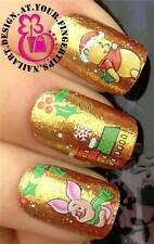CHRISTMAS WINNIE THE POOH PIGLET NAIL ART WATER TRANSFERS STICKERS DECALS  #817