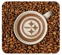 Pittsburgh Steelers Latteam Coffee Art Mouse Pad Packaged
