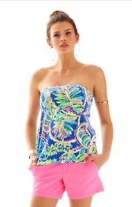 66f0653ce7 Image is loading Lilly-Pulitzer-Val-Tube-Top-Multi-Toucan-Play-