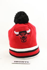 7eadf5d7475 MITCHELL   NESS NEW NBA CHICAGO BULLS BEANIE BLACK WHITE RED ADULT ...