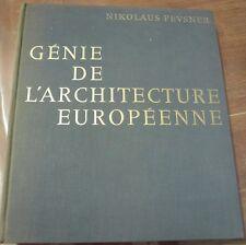 Génie de l' architecture européenne,  Nikolaus Pevsner, Tallandier 1965 FREE…