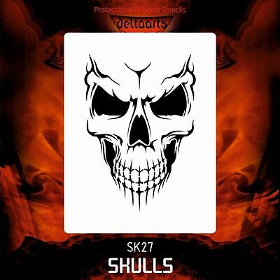 Honey Airbrush Stencil Template Deltaarts Skull 27-4 Sizes Available Mini Mid Xl Xxl Wide Selection; Crafts
