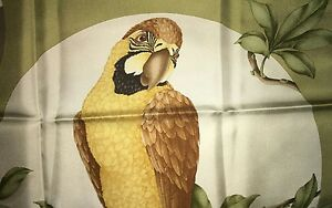 75b98276a0 Details about NWT Beautiful SALVATORE FERRAGAMO PARROT scarf 100% SILK  ITALY new foulard carre