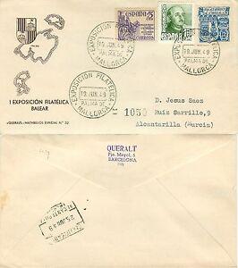 330-Spagna-Annullo-speciale-Esposizione-filatelica-a-Palma-di-Maiorca-1949