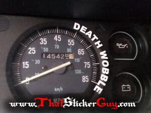Death Wobble Sticker Fits Jeep Cherokee Xj Square Body 4 0 Lift