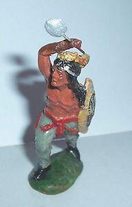 Elastolin Masse Indianer Gefertigt Nach 1945 Antikspielzeug SchöNe Lustre