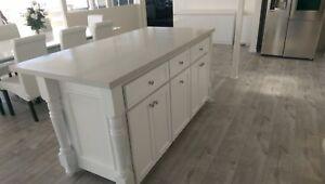 Image Is Loading 6ft White Kitchen Island Cabinet Carrara