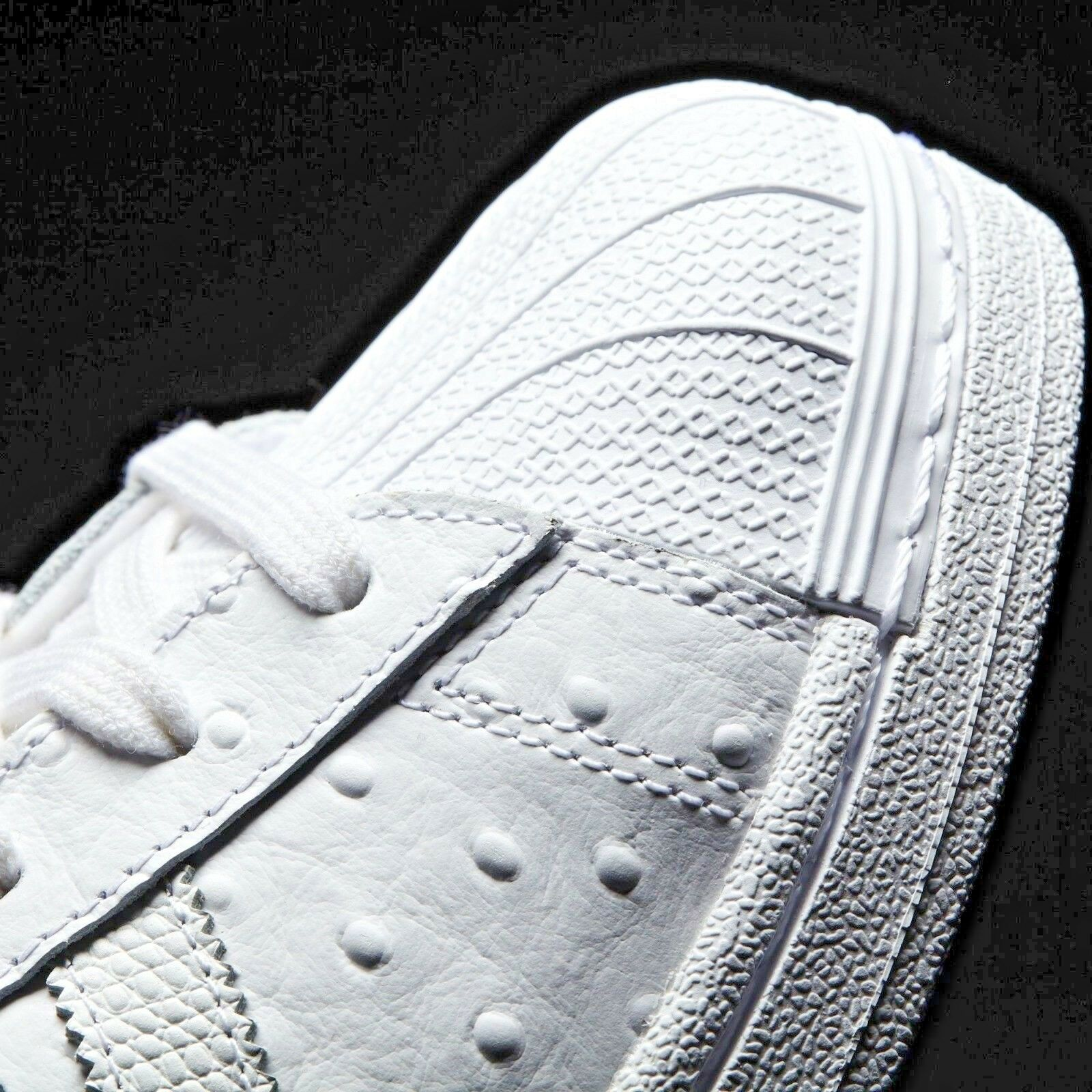 ADIDAS ORIGINALS Men's Leather Old School Trefoil Leather Men's Shell Toe White Sneakers Shoes 4be12c