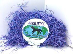 Dark Horse Yarn Metallic Wink Eyelash Light Pink 1 Skein 20g 84yd