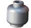 Lego-2-Stueck-Kopf-in-silber-flat-silver-unbedruckt-einfarbig-Neu-3626c Indexbild 2