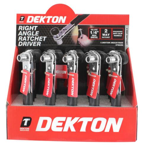 Dekton 1//4/'/' Hex Drive Right Angle Ratchet Driver