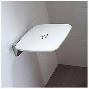 Mira Premium Folding Shower Seat 450mm Wall Mounted Bathroom Mobility Aid Ebay
