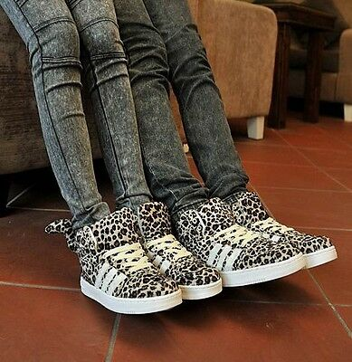 New suede leopard high-top couple Skateboard/casual hip-hop sports Tail shoes