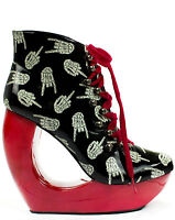 TOO FAST LADIES UP YOURS MOON PLATFORM WEDGE BOOTS NEW WITH BOX (R32A/B)