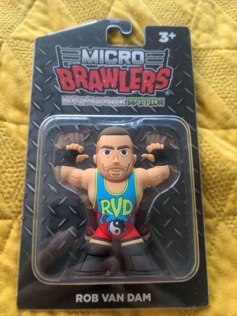 Brand new Rob Van Dam Micro Brawlers Hardcore Edition in hand moc