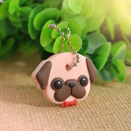 Silicone Key Ring Cap Head Cover Lovely Animals Shape Key Case Shell Keychain HS