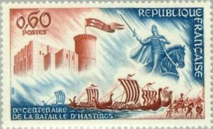 EBS-France-1966-Ninth-Centenary-of-the-Battle-of-Hastings-Falaise-MNH-YT1486